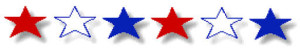 Stars Banner - Red-White-Blue